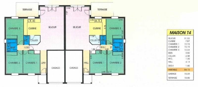 Vente 2 maisons jumel es vendues lou es - Plan maison jumelee par le garage ...